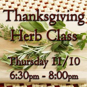 Thanksgiving Herb Class