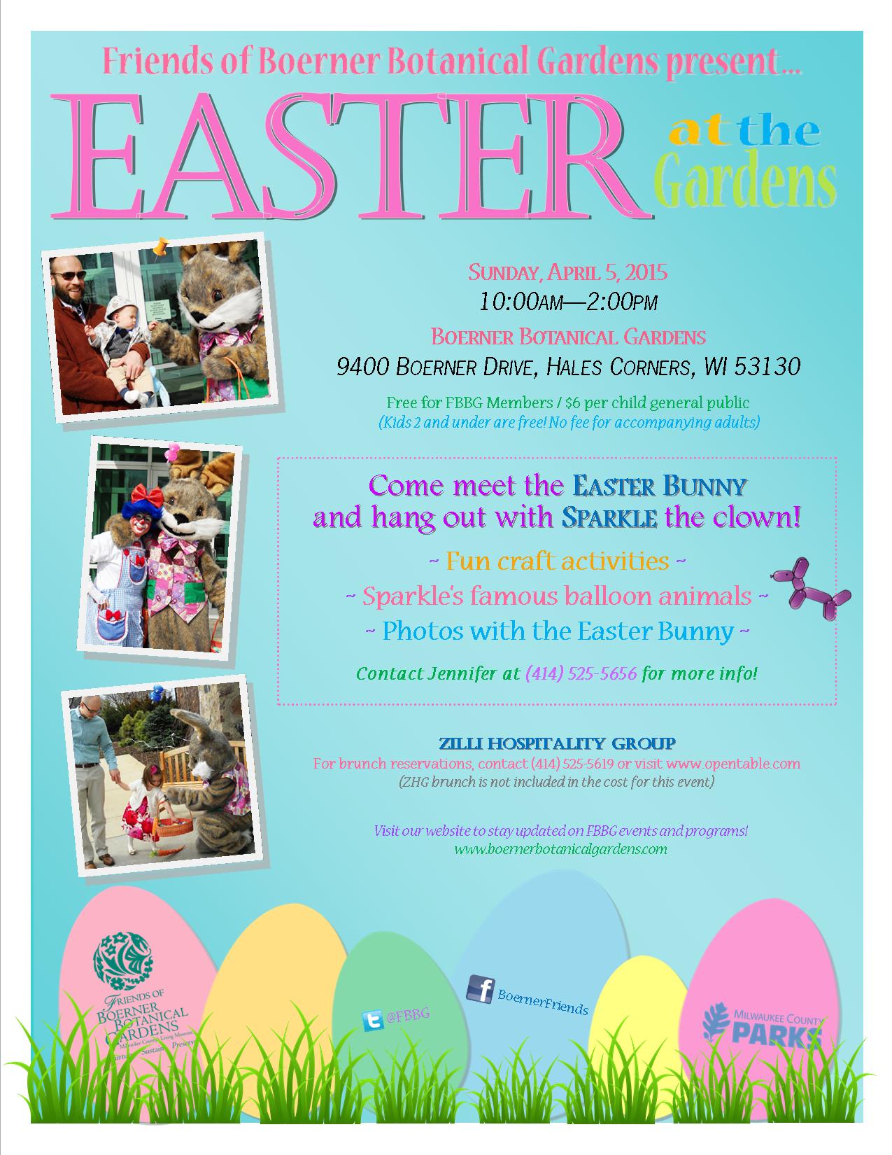 Friends Of Boerner Botanical Gardensfamily Easter Event