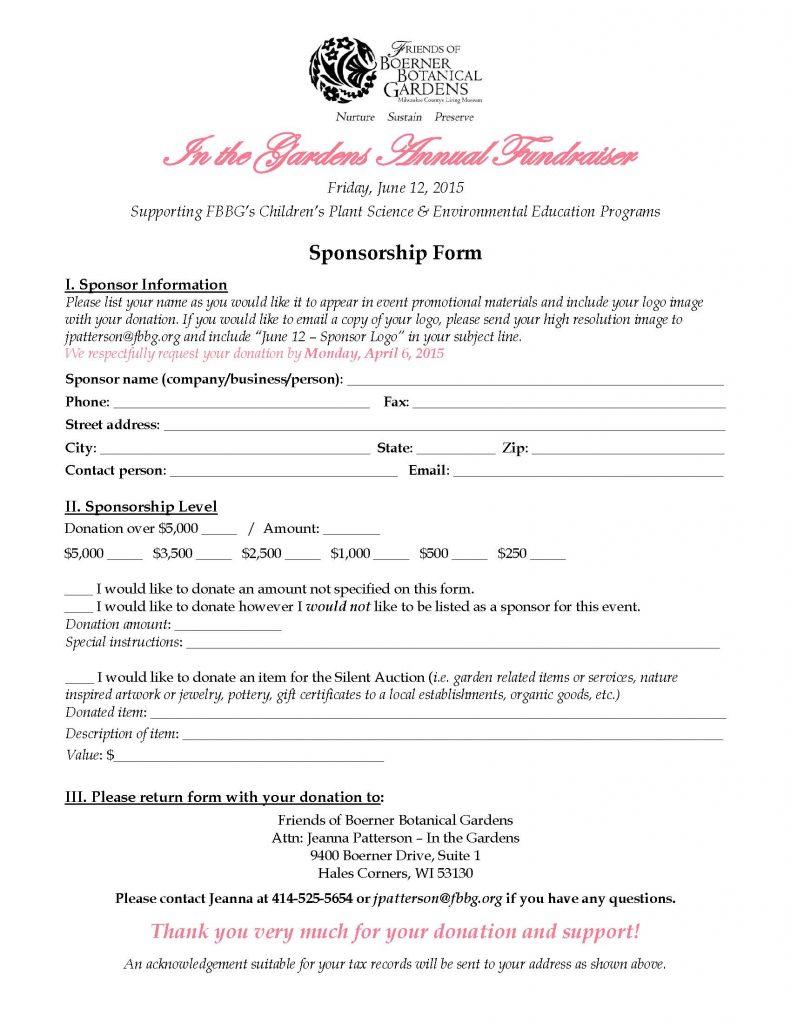 Doc460595 Sponsorship Agreement Form Sponsorship Agreement – Event Agreement Template