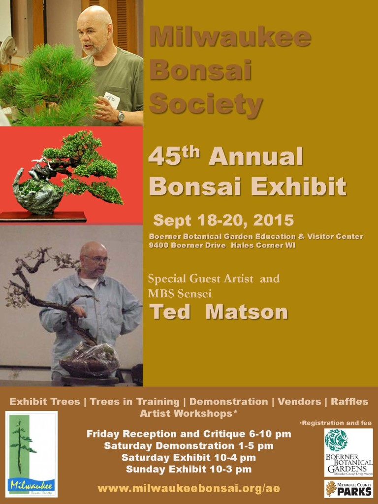 Friends Of Boerner Botanical Gardens45th Annual Milwaukee Bonsai Society Exhibit