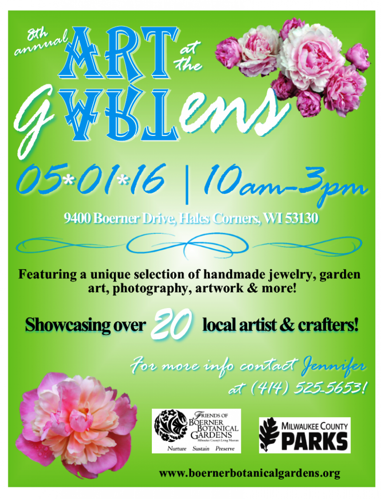 Friends Of Boerner Botanical Gardens8th Annual Art At The Gardens Craft Fair