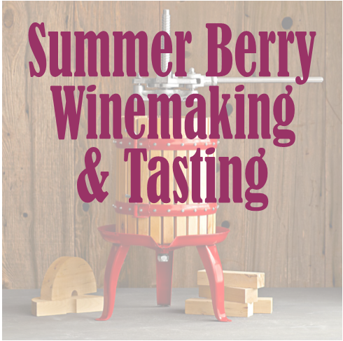 Summer berry wine making and tasting