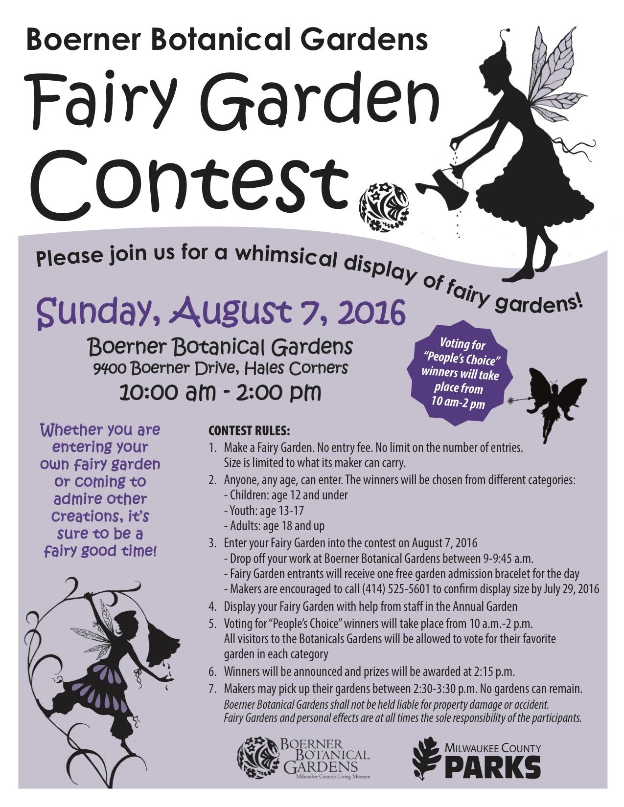 Friends Of Boerner Botanical Gardensfairy Garden Contest
