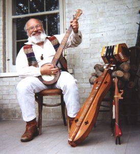 David HB Drake with folk instruments