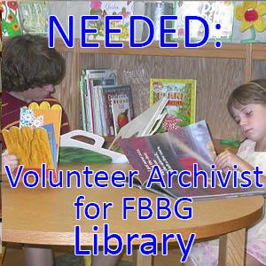 Library archivist volunteers web icon