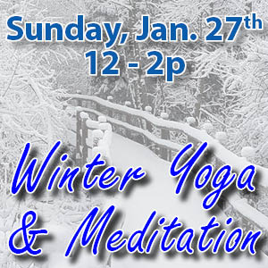 Winter yoga & meditation web icon