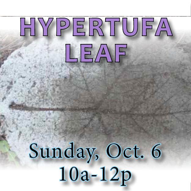hypertufa leaf October web icon